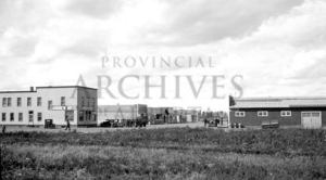 Main Street of Andrew, Alberta, ca. 1930. Photograph by Nicholas W. Gavinshuk, Provincial Archives of Alberta, G208.