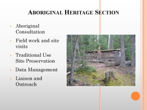 What Municipalities Should Know About Aboriginal Heritage