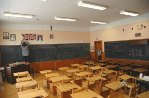 Classroom, Little White School, St. Albert