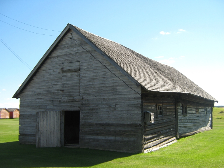 Myschuk Barn, near Wildwood (Evaluated as part of the the Yellowhead County Municipal Heritage inventory project).