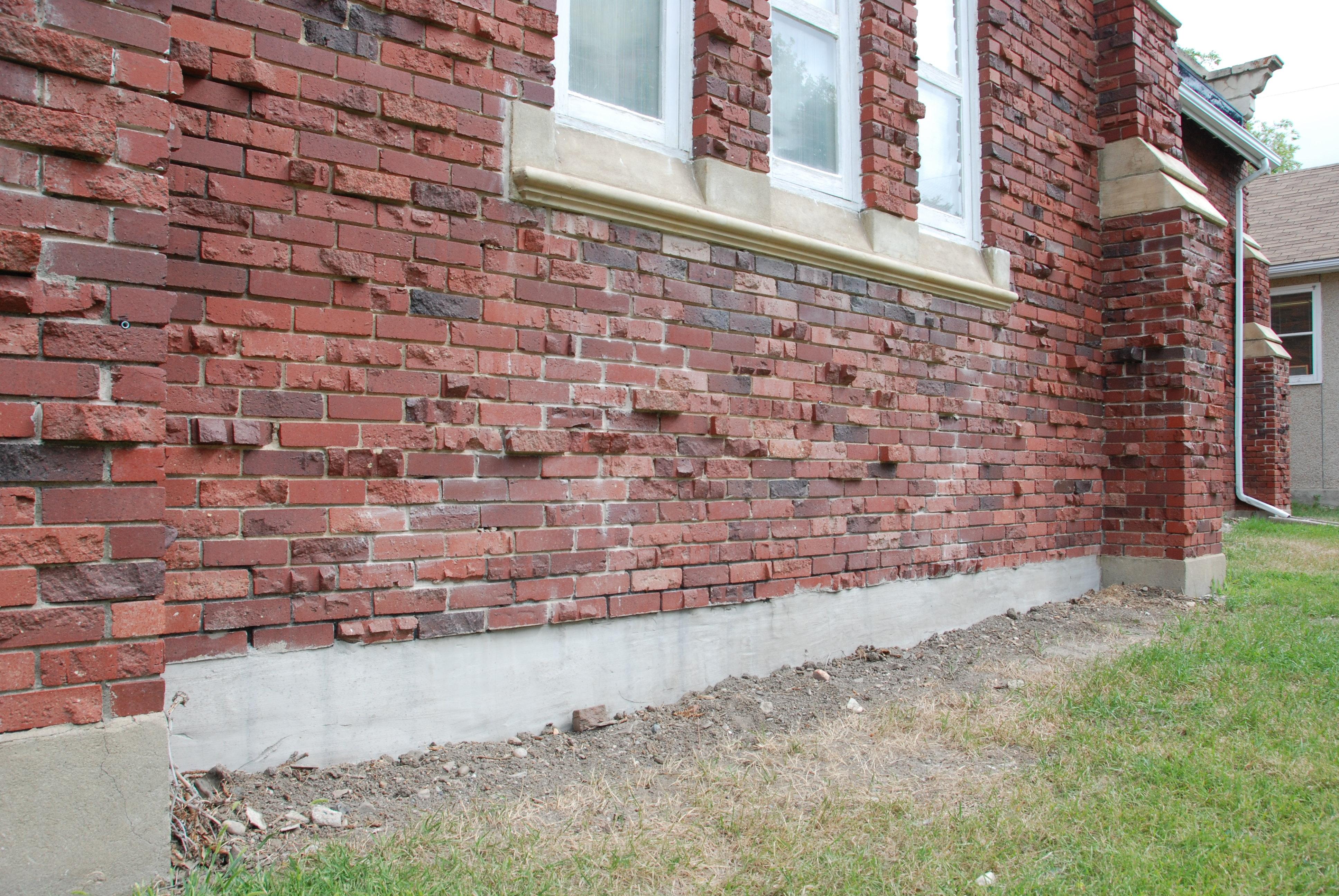 Parging Concrete Foundations Wall