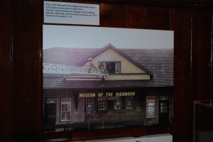 A display at the Museum of the Highwood showcases the fire that caused significant damage.