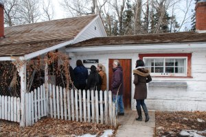 AHRF board members and Town staff entering the Sheppard/Maccoy House