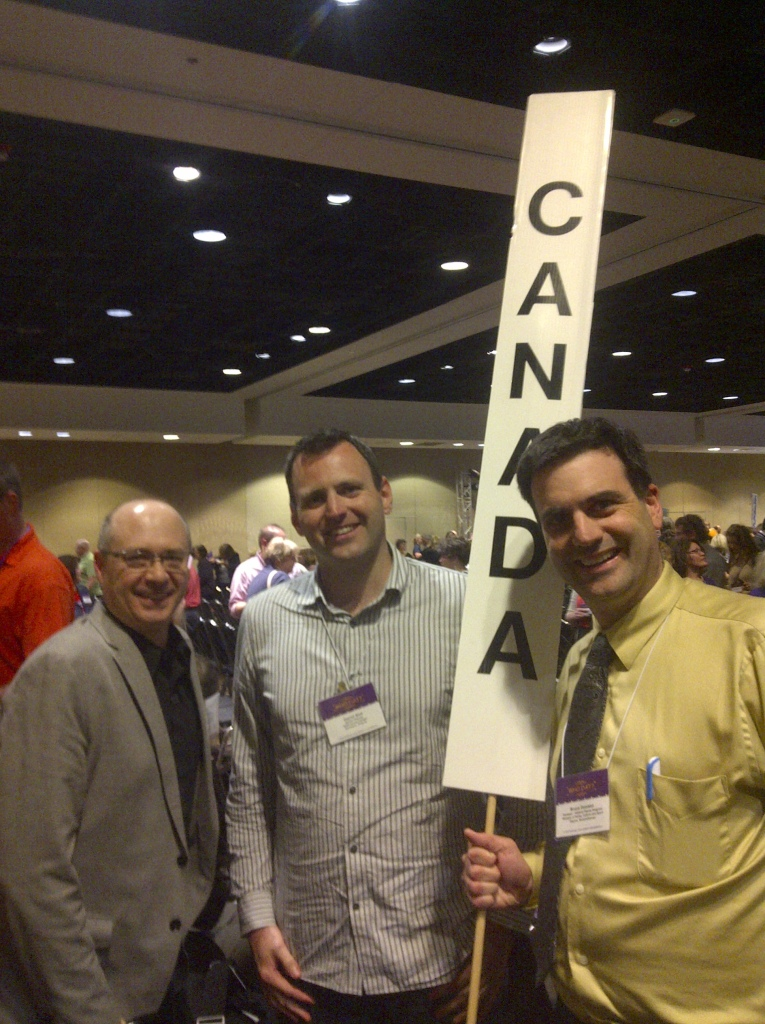 "Some members of the ""Canada"" delegation at the U.S. National Trust for Historic Preservation's National Main Street Conference"
