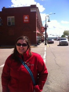 Jennifer Kirchner, Planner with the City of Lacombe, showed us around main street.