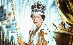 Queen Elizabeth II in coronation robes