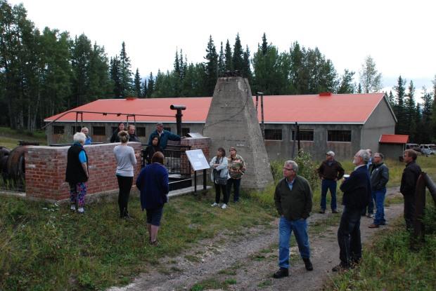 touring the Nordegg site - 1st image