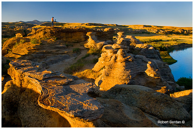 Morning light on the beautiful hoodoos at Writing-on-Stone (photograph reproduced with permission from Robert Berdan).