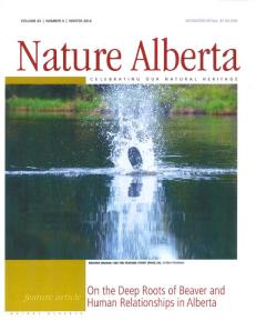 Nature Alberta Magazine - cover - (Winter 2014) jpg