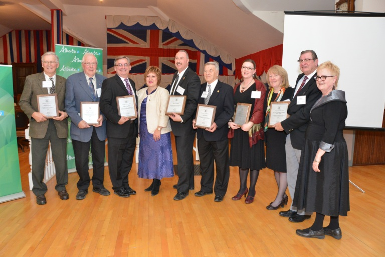 Minister of Culture, Heather Klimchuk, together with 2012 Heritage Award Winners