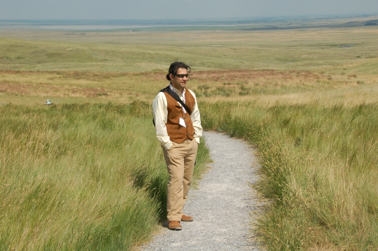Alireza Farrokhi at the Head-Smashed-In Buffalo Jump during the 25th anniversary celebration in July 2012.