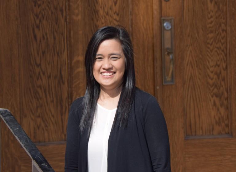 a photograph of Carina Naranjilla, Grant Program Coordinator, A.H.R.F.