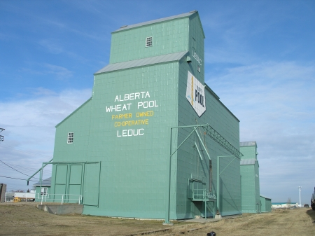 A photograph of the former Alberta Wheat Pool Grain Elevator at Leduc, taken in 2007.