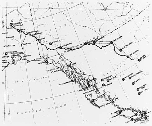 Northwest Staging Route in Canada and Alaska. Yukon Archives. Department of Defence Collection, 91/37 #51, PHO 419.