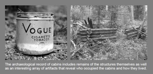Cabin and tobacco tin