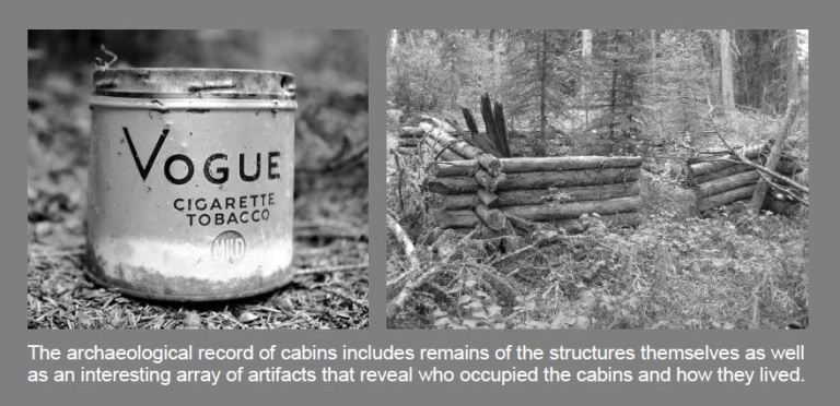 Cabin and tobacco tin