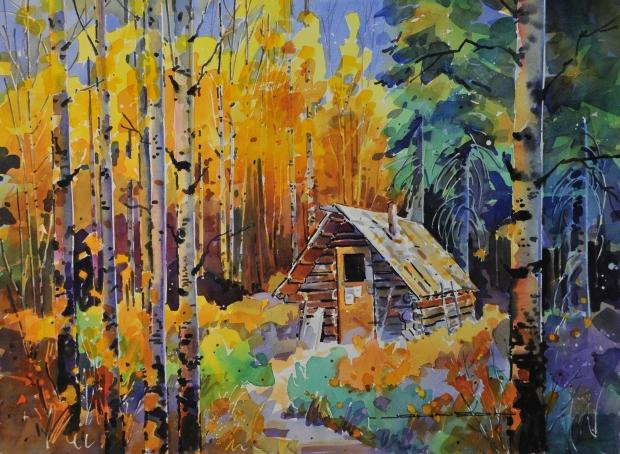 Trapper's Cabin by Gregg Johnson
