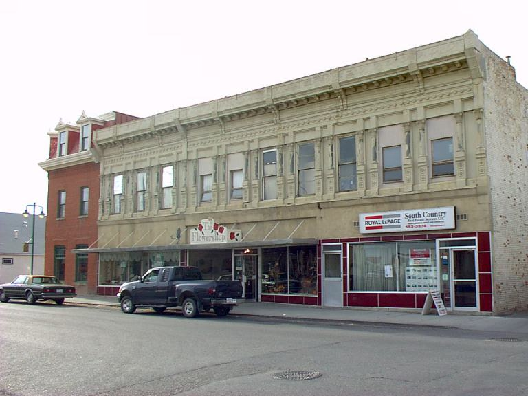 The Grier Block in 2001, many years before the restoration began (November 2001).