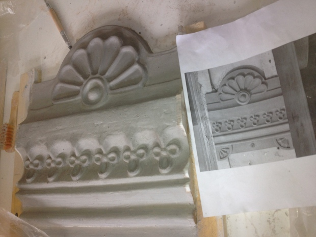 One of the clay model prepared for the casting process (February 2013).