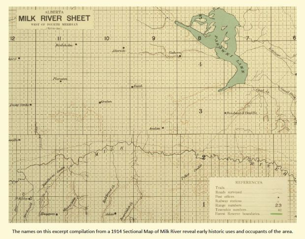 Milk River valley map
