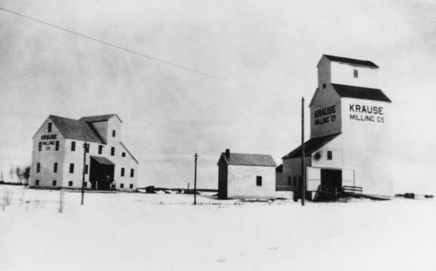 The Krause Milling Company Elevator and Flour Mill, at Radway. (Photo courtesy of the Radway and Area Historical Archives Association Archives.)