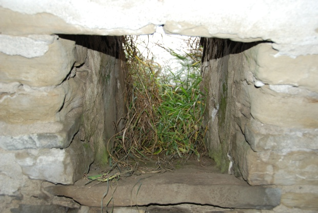 Small opening in the chamber, for light and ventilation (Alberta Culture, Historic Resources Management Branch, 2011).