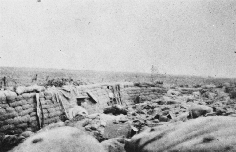 Trenches in France during the First World War (Provincial Archives of Alberta, A9020)