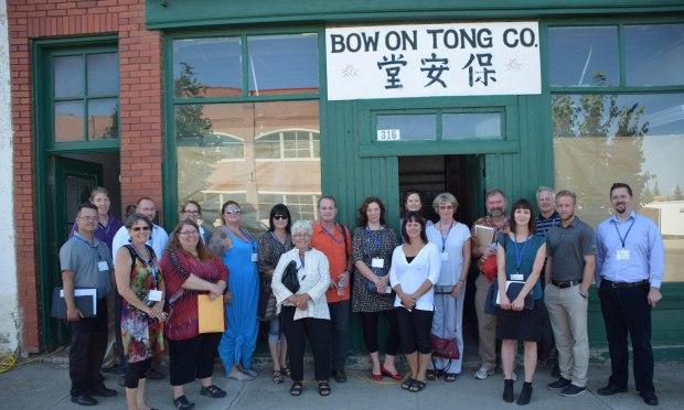 Alberta Main Street Program Leaders during their Lethbridge meeting, August 276, 2104