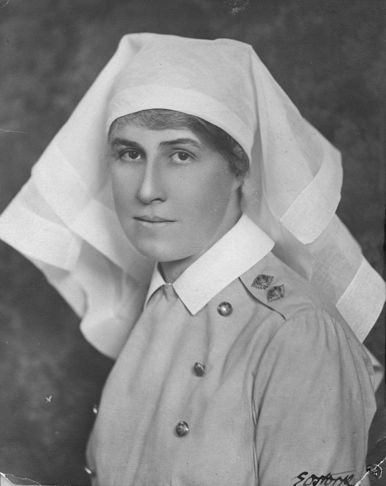 Future member of the Alberta Legislature, Lieutenant Roberta MacAdams, was a dietician stationed in England during the First World War, 1917. (Provincial Archives of Alberta, A13185)