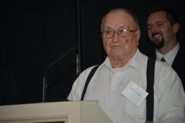 Oliver Glanfield won an Outstanding Achievement Award for tirelessly promoting the history of northern Alberta, particularly the community of Fort Chipewyan.