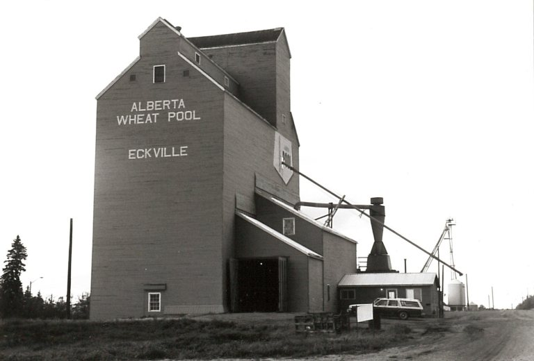 Alberta Wheat Pool at Eckville, (Photo courtesy of the Alberta Heritage Survey 79-R0240-13.