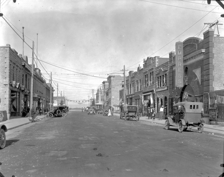 The Empress Theatre on Main Street, Fort Macleod, 1924 (Provincial Archives of Alberta, A5462).