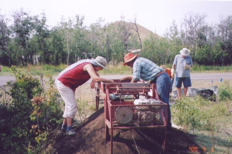 Society members volunteering at an active archaeological excavation. Photo courtesy of Janice Andreas.