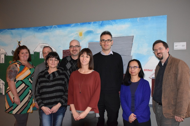 Main Street Meeting attendees (from left to right): Shelly Hall Zenew, Henry Maisonneuve, Karen Tabor, Murray Davison, Rebecca Goodenough, Michael Thome, Donna Poon, Matthew Francis