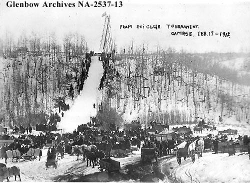 Fram ski club tournament, Camrose, Alberta, February 17, 1912 (Glenbow Archives NA-2537-13).