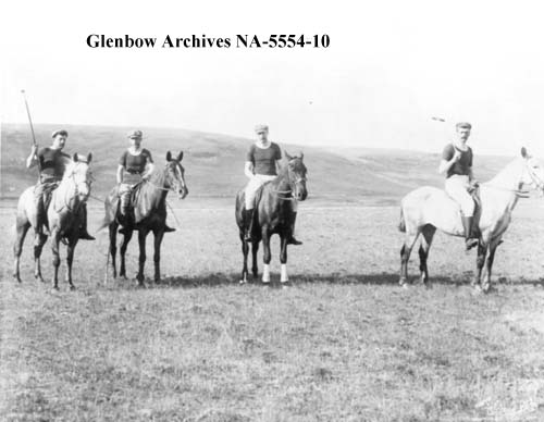 Polo team, southern Alberta, ca. 1890s (Glenbow Archives, NA-5554-10).