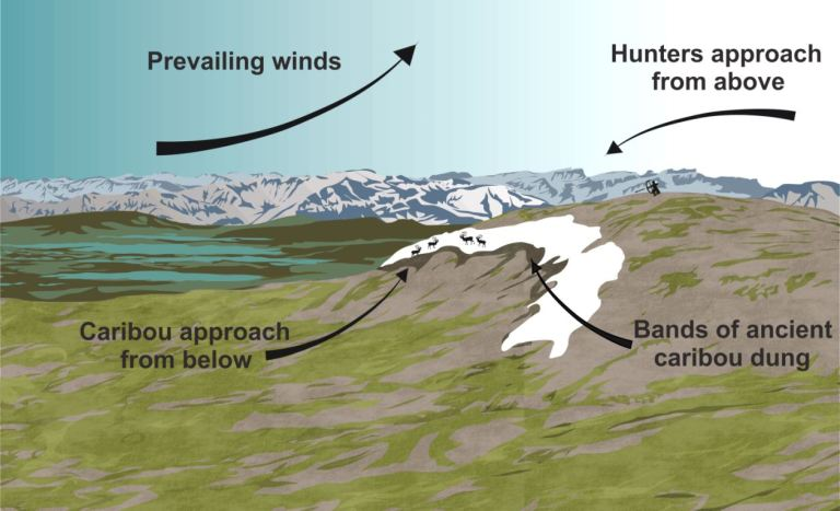 The perfect ice patch borders a round top that enabled hunters to lurk from above undetected (Todd Kristensen).