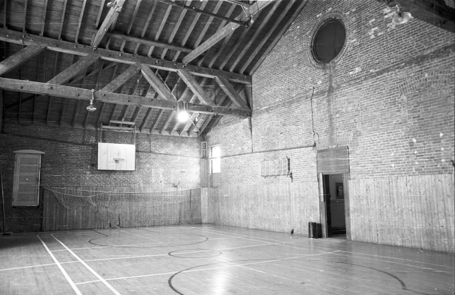 The gymnasium on the 5th Floor, 1974 (Historic Resources Management Branch, 70-R30L-12-M).