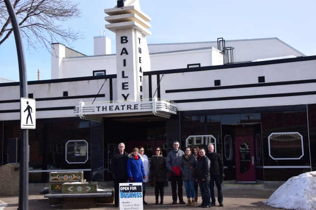 The Main Street crew standing outside the historic Bailey Theatre