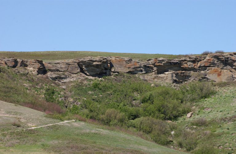 Head-Smashed-In Buffalo Jump Special Place Provincial Historic Resource, near Fort Macleod (Historic Resources Management Branch, June 2002).