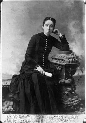 Nettie Burkholder, c.1888 (Courtesy of Whitby Public Library, 23-000-043).