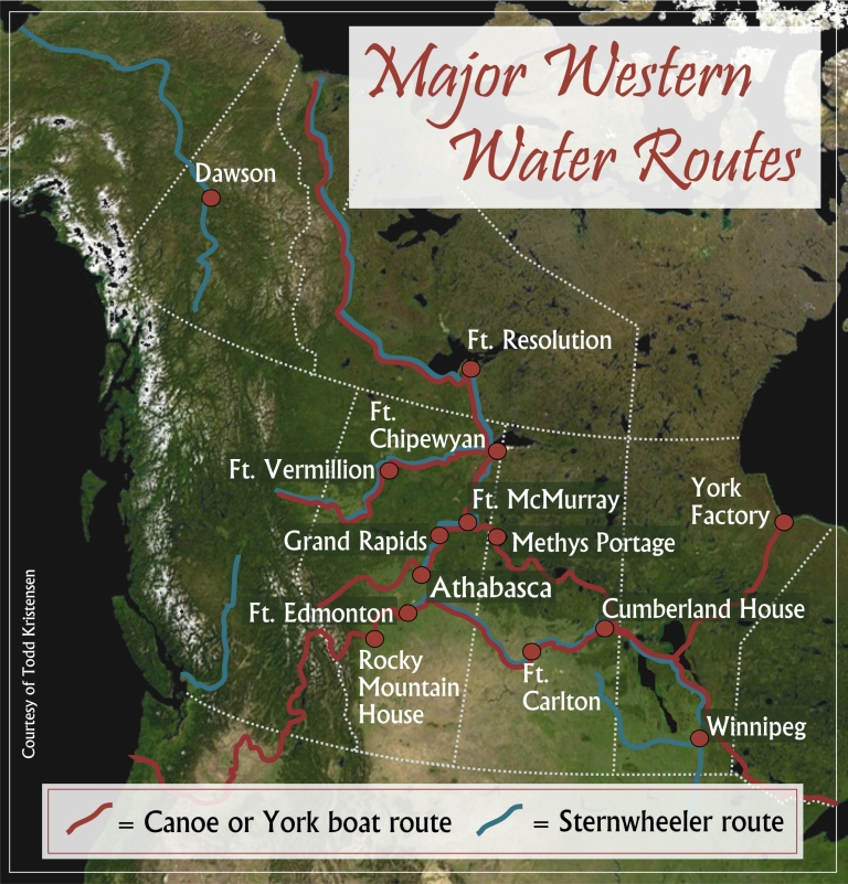 Figure 8. Water routes map