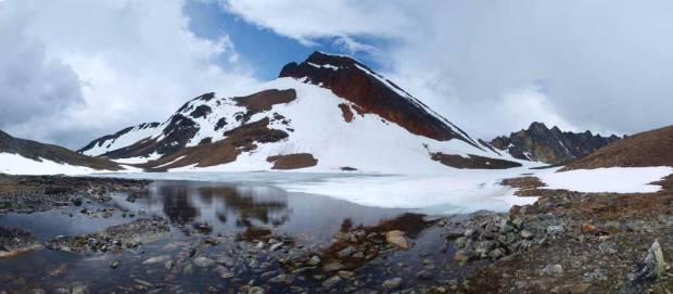 Mount Kerr and Kerr Lake. Image courtesy of Steven Song.