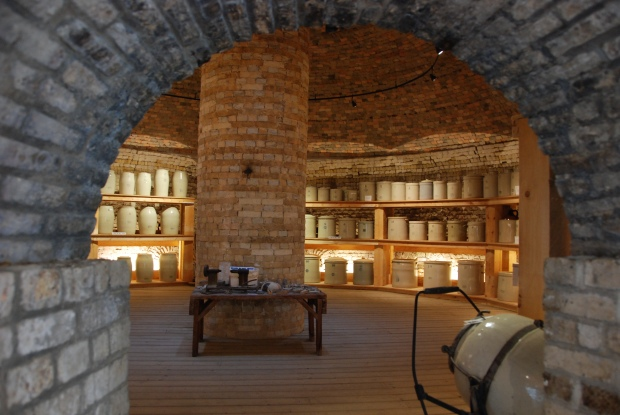 Beehive dome interior, Medalta Potteries, 2011.