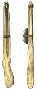 Figure 1. Atlatl and weight Amanda Dow