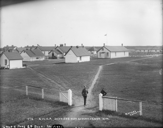Fort Saskatchewan North West Mounted Police Post, where visitors have heard strange noises and witnessed ghost sightings (photo courtesy of the Provincial Archives of Alberta)