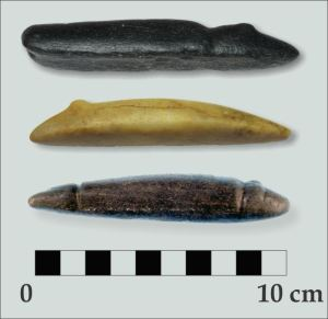 Figure 4a. Atlatl weights RAM and Heron