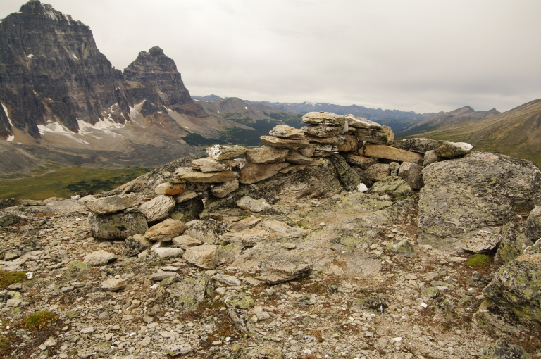 Stone feature on top of Tonquin Hill, age unknown.