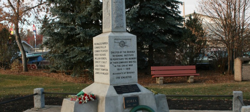 Remembering Beverly's War Dead: Alberta's First Great War Memorial