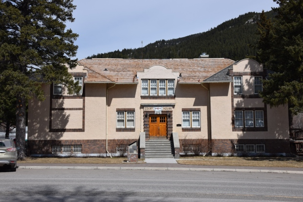 Blairmore Courthouse from the south, 2014.